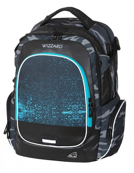 Studentský batoh WIZZARD Camo Blue