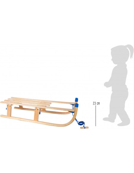 Dřevěné skládací sáně