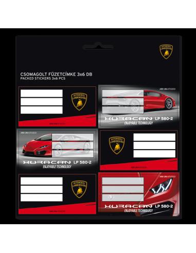 Jmenovky na sešity Lamborghini Huracan