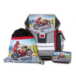 Školní aktovkový set ERGO ONE Rider 3-dílný