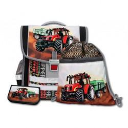 Školní aktovkový set Traktor 3-dílný