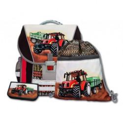 Školní batohový set Traktor 3-dílný