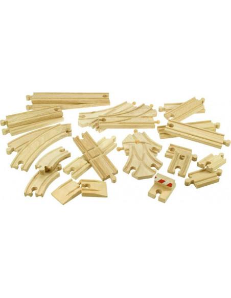 Dřevěné koleje set 25 dílů