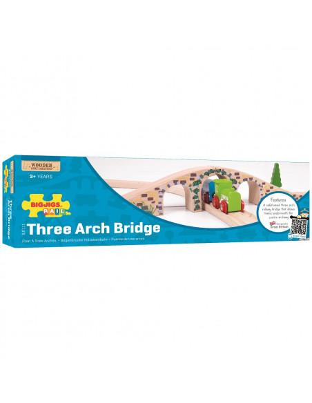 Dřevěná kolej most