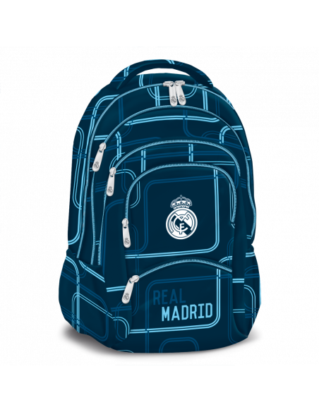 Real Madrid blue lines pětikomorový studentský batoh