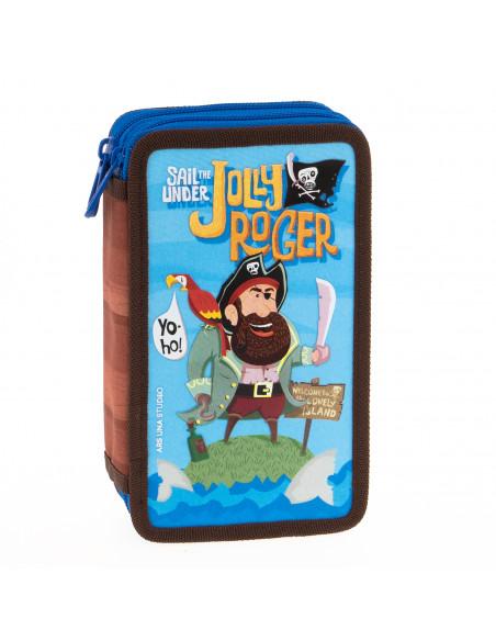 Penál Jolly Roger dvoupatrový