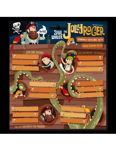 Jmenovky na sešity Jolly Roger