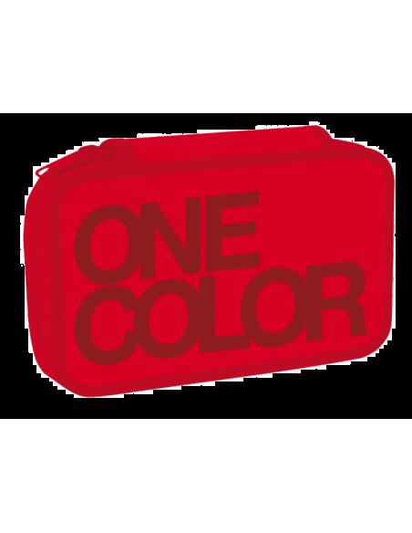 Penál dvoupatrový One Colour červený