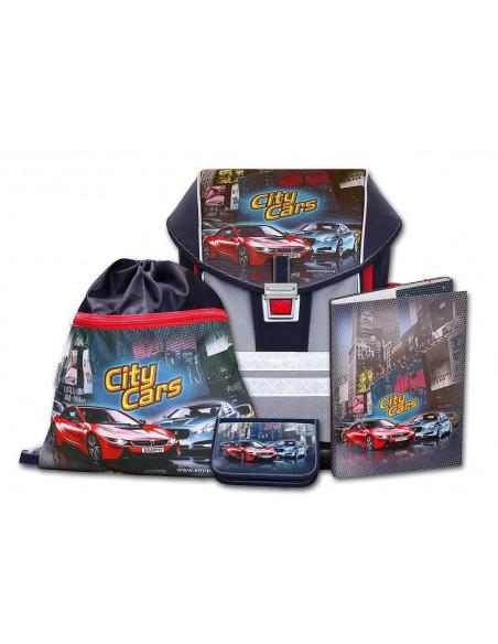 Školní aktovkový set ERGO ONE City Cars 4-dílný