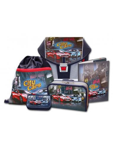 Školní aktovkový set ERGO ONE City Cars 5-dílný