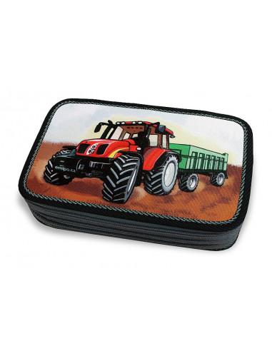 Školní penál 3-patra Traktor