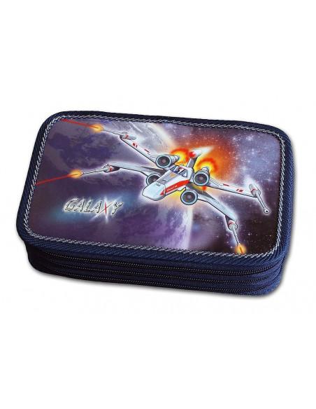 Školní penál 3-patra Galaxy