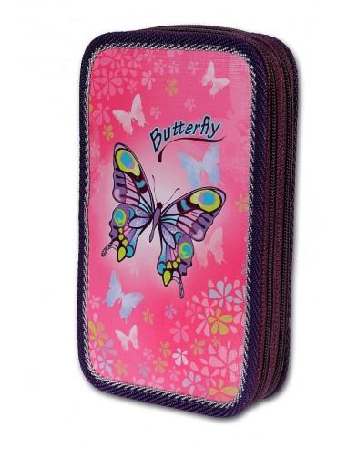 Školní penál 3-patra Butterfly