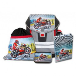 Školní aktovkový set ERGO ONE Rider 4-dílný