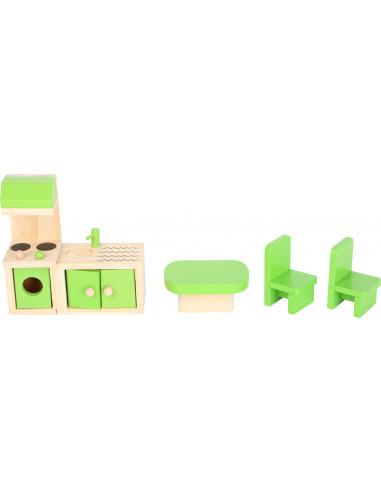 Drevený domček pre bábiky s odnímateľnou strechou
