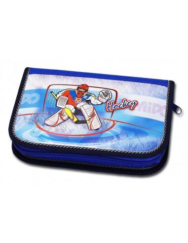 Školní penál 2-klopy Hockey