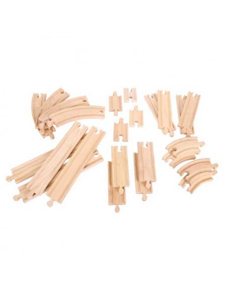 Dřevěné koleje set 24 dílů