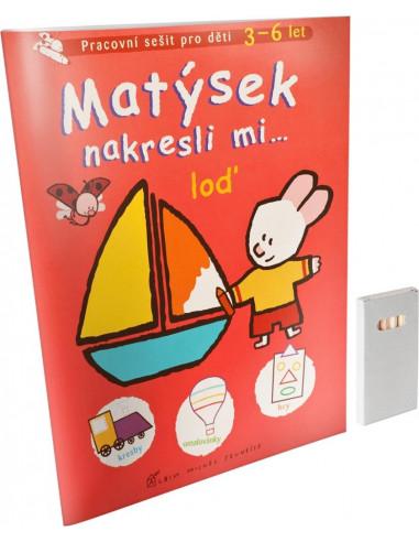 Kniha Matýsek nakresli mi... loď