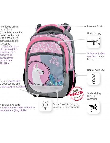 Školní batoh Lama