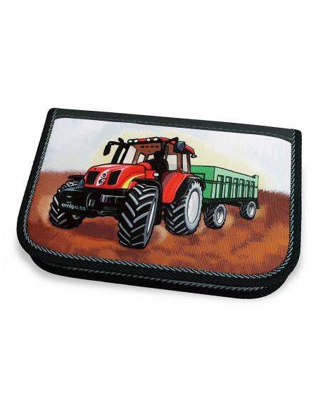 Školní penál 2-klopy Traktor