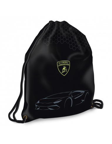 Lamborghini black Maxi sportovní pytel