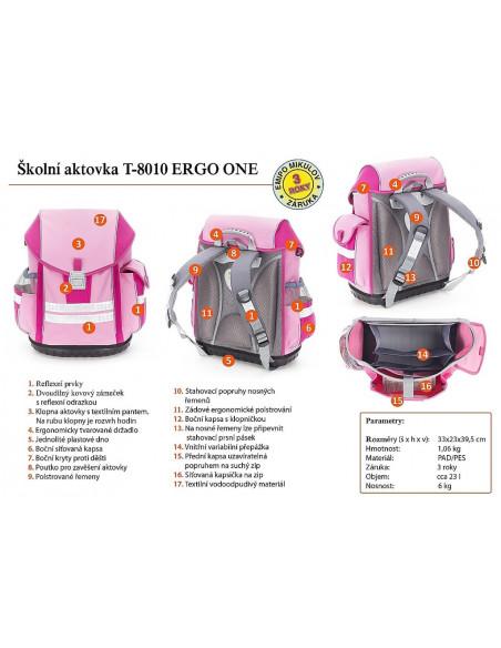 Školní aktovkový set ERGO ONE Pegas 3-dílný