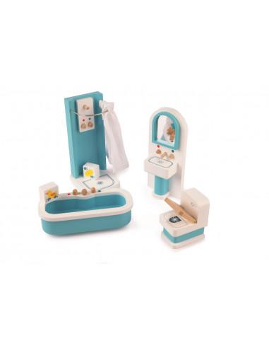 Dřevěný nábytek - Koupelna tyrkysová