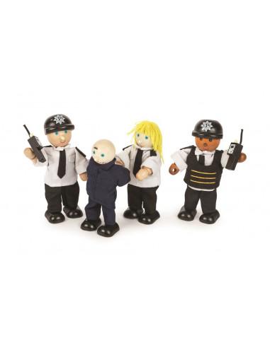 Postavičky policisté a zloděj