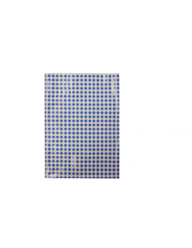 Ubrus do výtvarné výchovy 65x50cm modro-bílé kostky