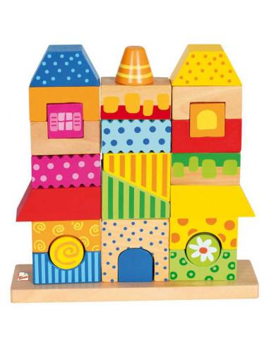 Dřevěné hračky skládanka domeček