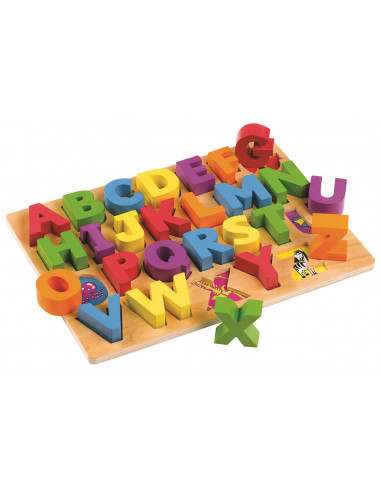 Dřevěná vkládací abeceda
