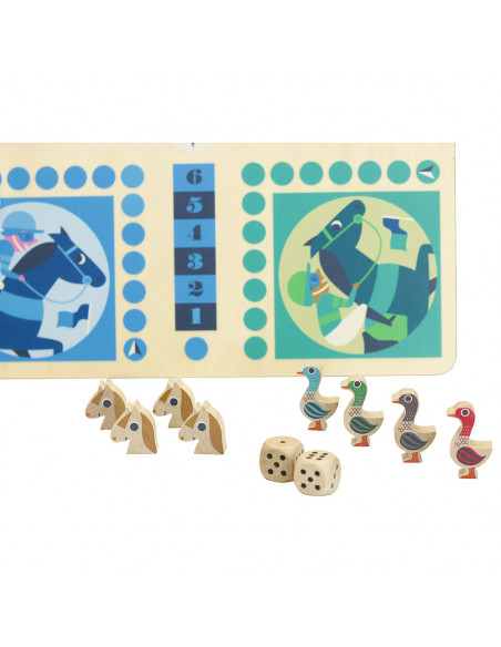 Dřevěná stolní hra 2v1