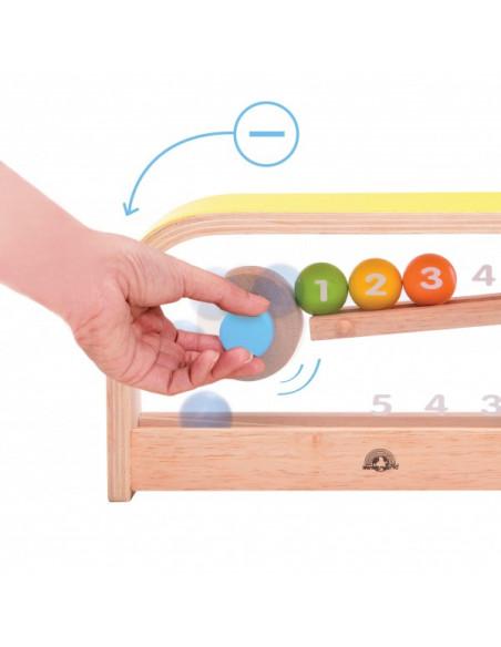 Dřevěné počítadlo kuličky