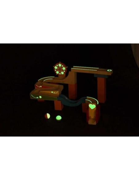 Dřevěná kuličková dráha TRIX - Svítící kolo