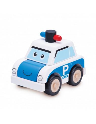 Dřevěné mini policejní auto