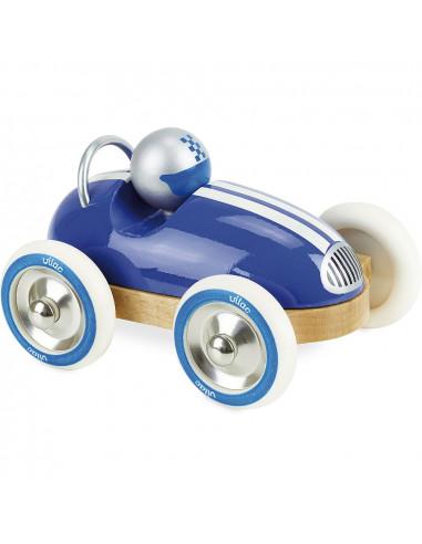 Dřevěné auto Roadster vintage modré