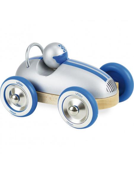 Dřevěné auto Roadster vintage stříbrné