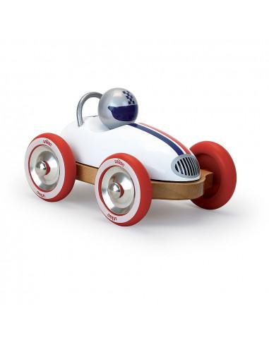 Dřevěné auto Roadster vintage bílé
