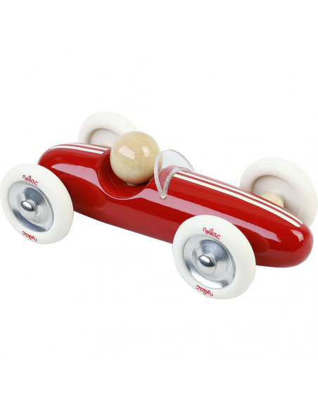 Dřevěné auto velké Grand prix vintage červené