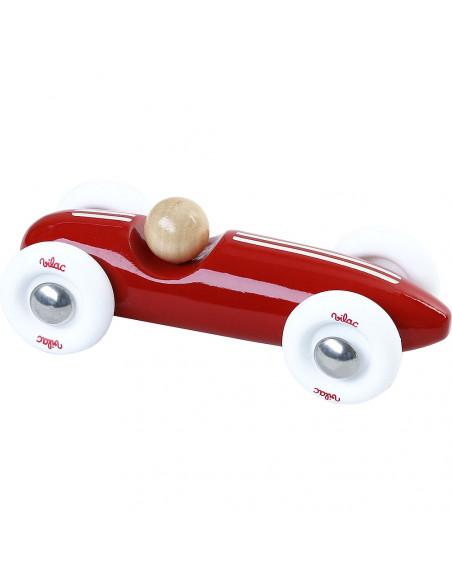 Dřevěné auto mini Grand prix vintage červené
