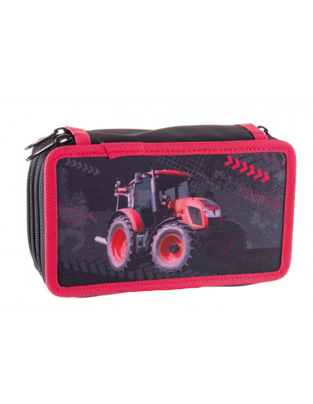 Školní penál třípatrový Tractor