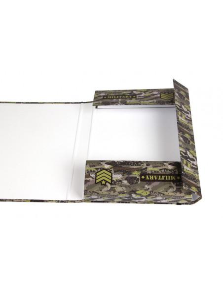 Box na sešity s klopou A5 Military