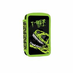 Penál dvoupatrový prázdný T-rex