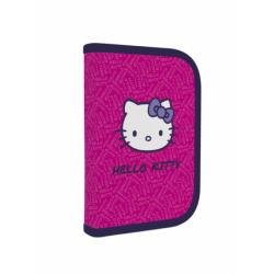 Penál 1patrový s chlopní naplněný Hello Kitty KIDS