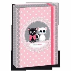 Box na sešity Think Pink kočky A5