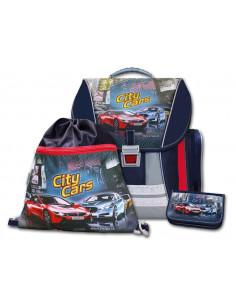 Školní batohový set City Cars 3-dílný
