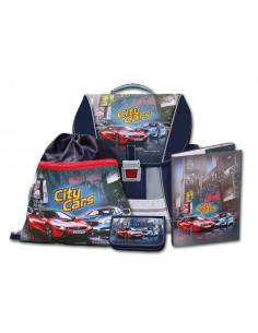 Školní batohový set City Cars 4-dílný
